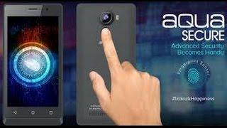 Unboxing of Intex Aqua Secure with Fingerprint sensor in Hindi