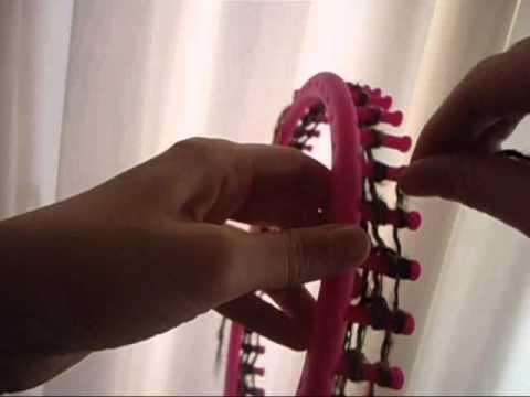Bufanda mágica en telar circular maya