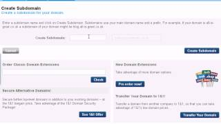 How to Associate Folders with Domain Name on 1and1 Hosting