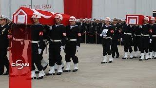 Helikopter şehitleri için askeri tören düzenlendi