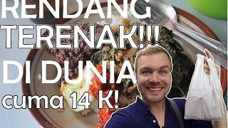 Rendang terenak di dunia 14 K ! Bule makan Nasi Padang Sabana Jakarta | VFLOG #66