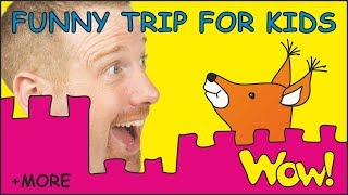 Funny Trip for Kids + MORE Stories for Children with Steve and Maggie | Learn English Wow English TV