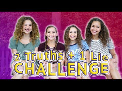 2 TRUTHS 1 LIE CHALLENGE Haschak Sisters