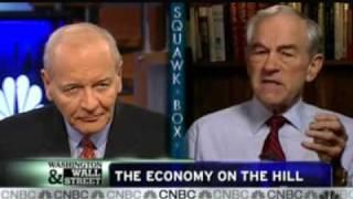 1/25/10 Ron Paul on CNBC's Squawk Box: Debate on Bernanke, the Fed, and Stimulus