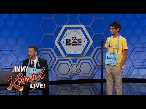 Jimmy Kimmel vs. 14 Year Old Spelling Bee Winner