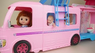 Baby doll swimming camping car toys Baby Doli play