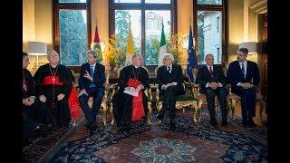 Mattarella all'Ambasciata d'Italia presso la Santa Sede