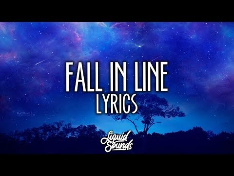 Christina Aguilera & Demi Lovato - Fall In Line (Lyrics  Lyric Video)