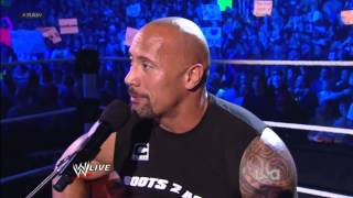 Rock Concert - The Rock Sings To John Cena On Raw 2012 HD