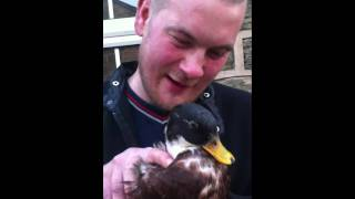 Crazy ass guy with his Duck