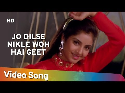 Jo Dilse Nikle Woh Hai Geet  - Divya Bharti - Avinash Wadhawan -Geet - Bollywood Songs - Alka Yagnik