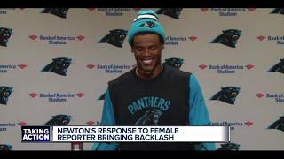 Cam Newton disrespects female writer