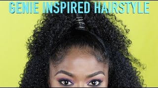 GENIE INSPIRED HAIRSTYLE (ALL HAIR TYPES!)