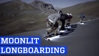 Downhill Longboarding by Moonlight | People are Awesome