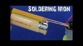 How To Make A MINI Battery Powered Soldering Iron Tool #183