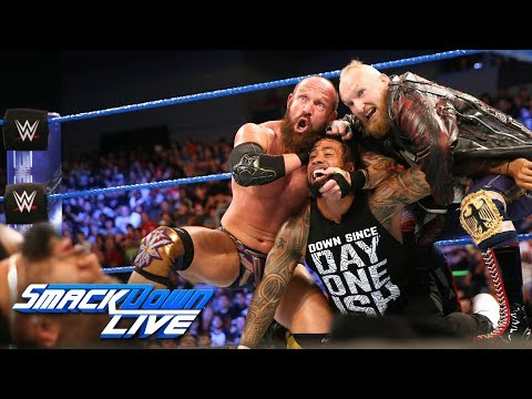 Xxx Mp4 SAnitY Wreak Havoc On The Usos In Their Debut SmackDown LIVE June 19 2018 3gp Sex