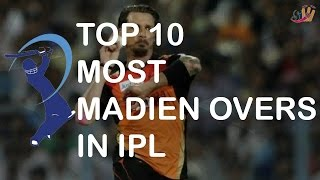 Top 10 Players with Most Maiden Over in IPL | SportzWiki