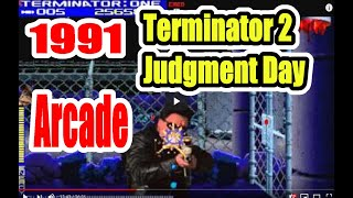 1991 Terminator 2 T2 Arcade Old School Game Playthrough Retro game