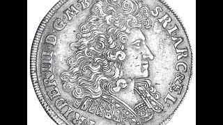 The silver Thaler from 1694 (metal detecting)