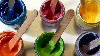 How to make BODY PAINT - Home made Face Paint for children (Party, Carnival, Saint Patrick's Day)