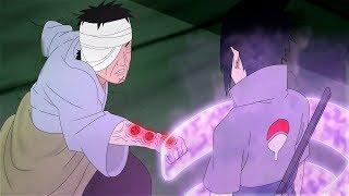 قتال ساسكي ضد دانزو، ساسكي يقتل دانزو، دانزو يستعمل تقنية الشيهو العكسية المحرمة