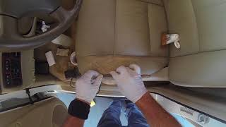 1999 Toyota land Cruiser Leather repair and dye