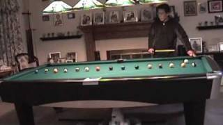 Billiards: Cue ball control 15 ball practice drill (part 1) on tight pockets 9 foot pool table