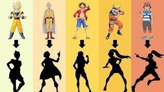 Anime Characters Gender Bender: Goku, Luffy, Naruto, Saitama, Ash Ketchum