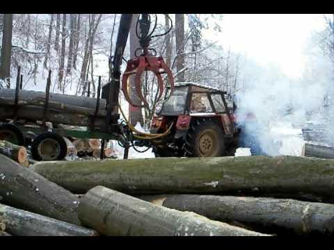 Zetor 10641 forterra larix 3T vyvážecí vlek zrywka drewna