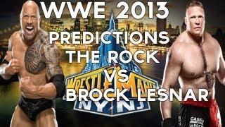 WWE 13-The Rock vs Brock Lesnar Wrestlemania 29 WWE 2013 Predictions!