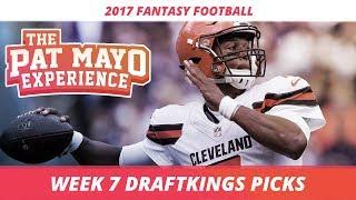2017 Fantasy Football - Week 7 DraftKings Picks, Preview and Sleepers