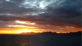 RFH 2012-12-22 inctedible sunset on Navimag from Puerto Montt to Puerto Natales #3