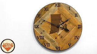 Making a Giant Rustic Wall Clock (with inlay)
