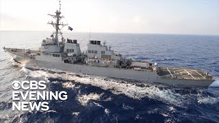 U.S. warship takes down Iranian drone over Strait of Hormuz