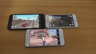 iPhone 6 vs HTC One A9 vs Nexus 5X GTA San Andreas Gaming Test (4K)