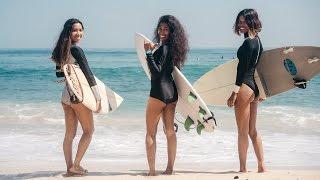 Indonesian surfer girls