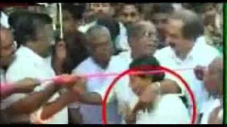 CPM leaders boob grabbing a poor OLD lady in Kerala, In-front of then CM, V S Achuthanandan.