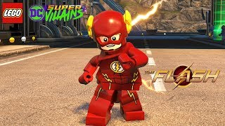 LEGO DC Super Villains The Flash (TV Show) Free Roam Gameplay (Grant Gustin TV Heroes Pack)