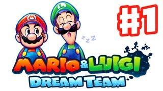 Mario & Luigi: Dream Team - Gameplay Walkthrough Part 1 - Pi'illo Island Intro (Nintendo 3DS)