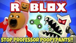 Annoying Orange Plays - ROBLOX: Stop Professor Poopypants!!