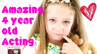 AMAZING ACTING SKILLS - 4 YEAR OLD - Must see! :)