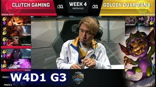 Clutch Gaming vs Golden Guardians | Week 4 Day 1 S8 NA LCS Summer 2018 | CG vs GGS W4D1
