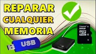 REPARAR  MEMORIA DAÑADA ( USB/ SD / TARJETA SD/ PENDRIVE/ DISCO DURO ) 2018