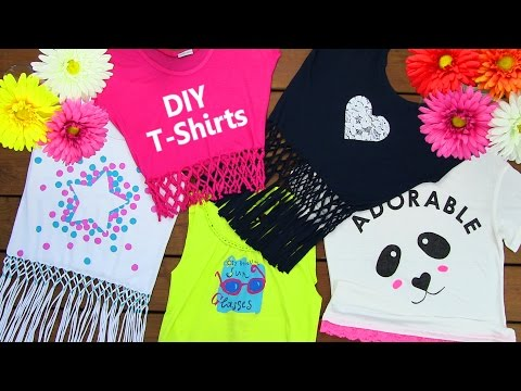 DIY Clothes DIY 5 T Shirt Crafts T Shirt Cutting Ideas and Projects with 5 Outfits