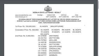 SUVARNAJUBILEE THIRUVONAM BUMPER 2017 Kerala Lottery BR 57 Result 22-09-2017 - Onam Bumper 2017