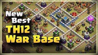 New Best TH12 Anti 3 Star War Base | TH12 War Base #04 | Clash Of Clans | 2018 |