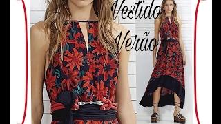 costura vestido verão
