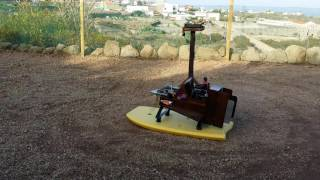 Homemade RC Airboat dry run 22-2-2016.