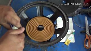 speaker repair in hindi (step by step guide)12in. DJ speaker repair.