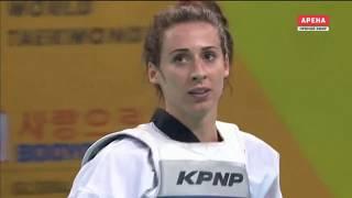 Bianca Walkden GBR vs. Saedom An KOR. Taekwondo World Championship 2017. Semifinal Women +73 kg